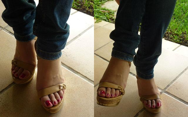 De mis sandalias favoritas.
