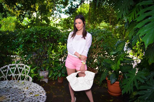 Fashion - Pink Woven Shorts by Soniux Valdés