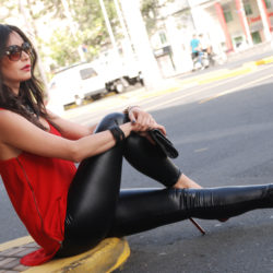 Faux Leather Leggings by Soniux Valdés