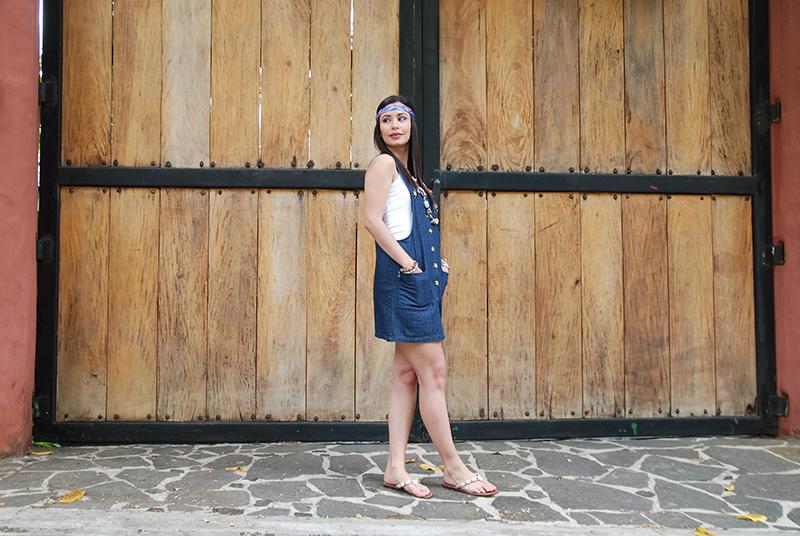 Denim Overall Dress by Soniux Valdés