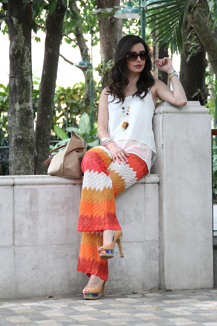 Fashion - Colorful Knit Palazzo by Soniux Valdés
