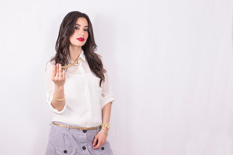 Fashion - Striped Skirt by Sonia Valdés