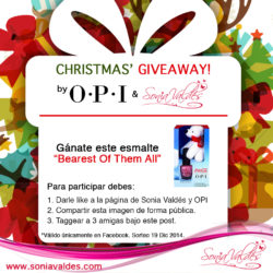 OPI Christmas Giveaway Bearest Them All by Sonia Valdés