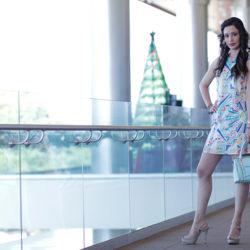 Fashion - Geometric Print Dress by Sonia Valdés