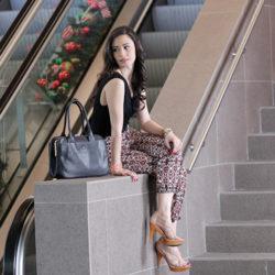 Fashion - Pink & Black Jumpsuit by Sonia Valdés