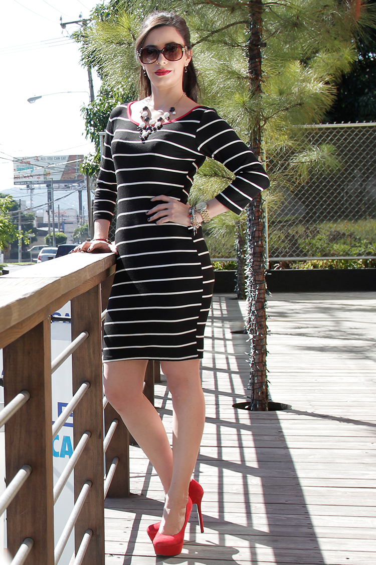 Fashion - Stripped Dress by Sonia Valdés