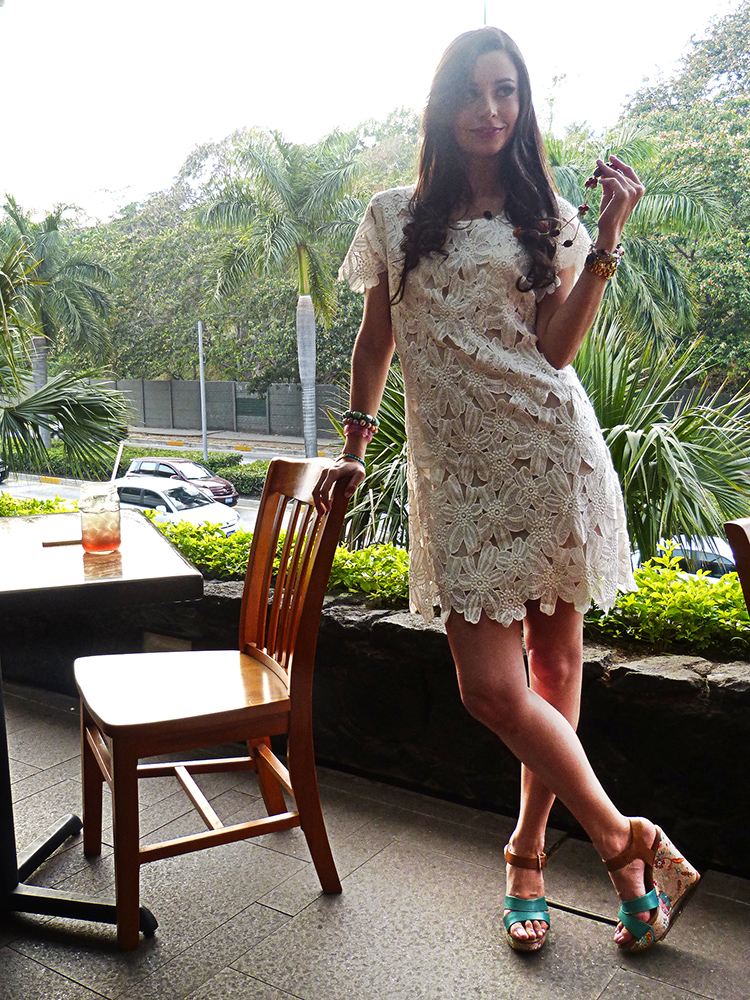 Fashion - Colorful Platforms + Lace Dress by Sonia Valdés