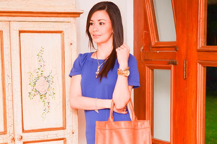 Fashion - Indigo Blue Dress by Sonia Valdés