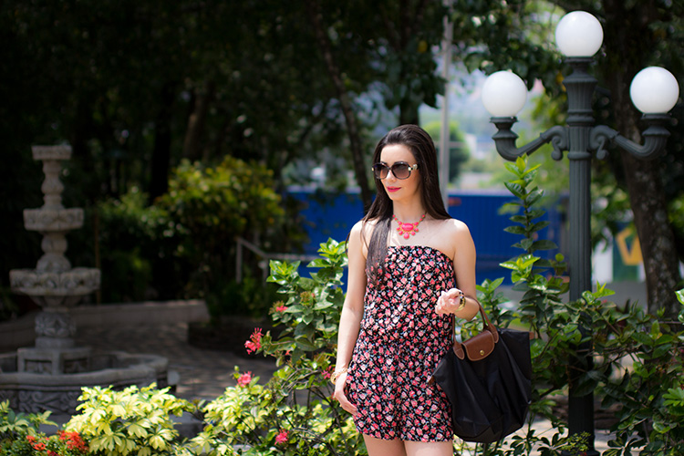 Fashion - Floral Print Romper by Sonia Valdés