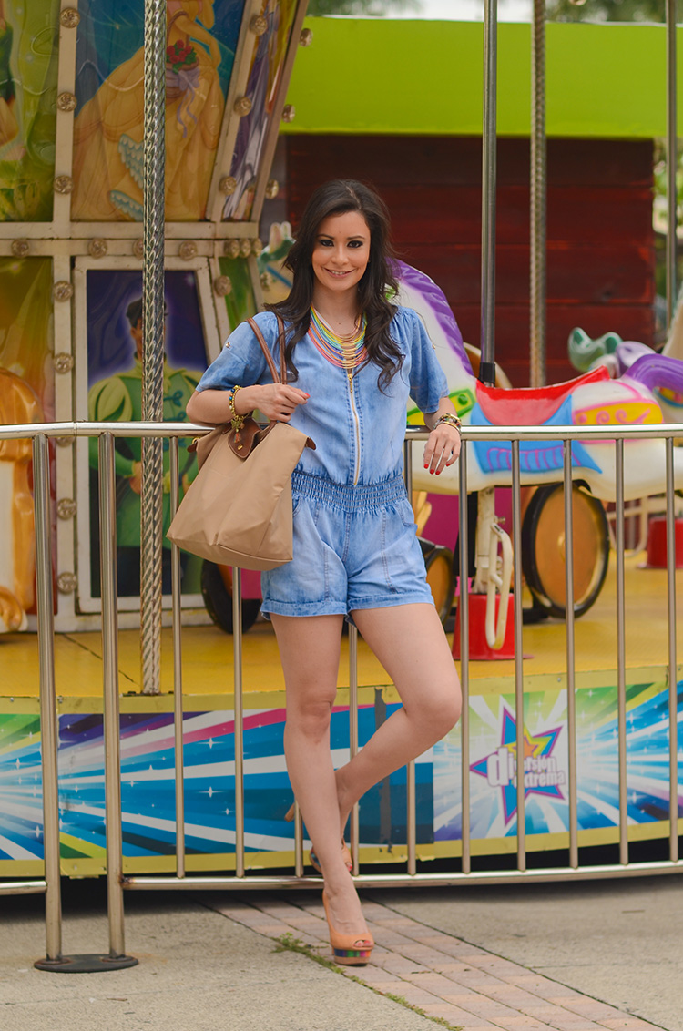 Fashion - Denim Romper by Sonia Valdés