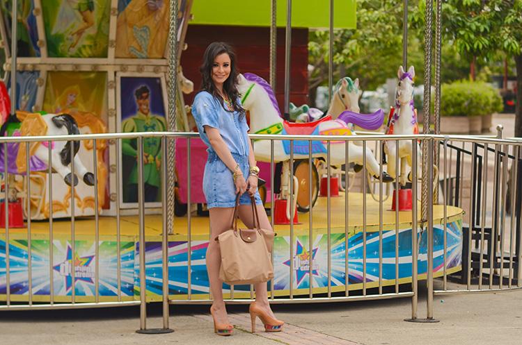 Fashion - Denim Romper by Sonia Valdés