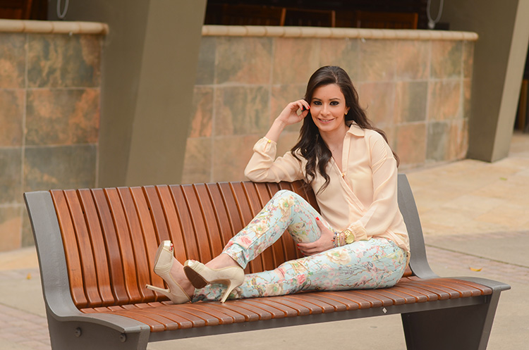 Fashion - Floral Print In Pastel Colors by Sonia Valdés